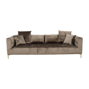 buy Ms. Chesterfield Light Brown Tufted Sofa Interior Define