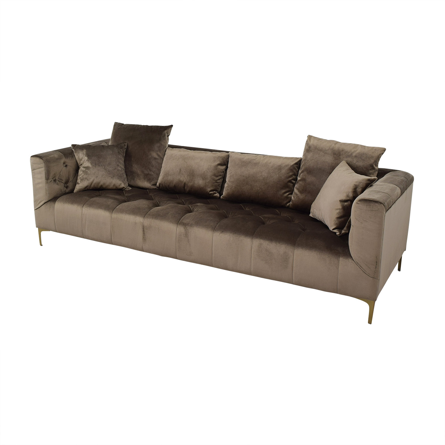 84 Off Ms Chesterfield Light Brown Tufted Sofa Sofas