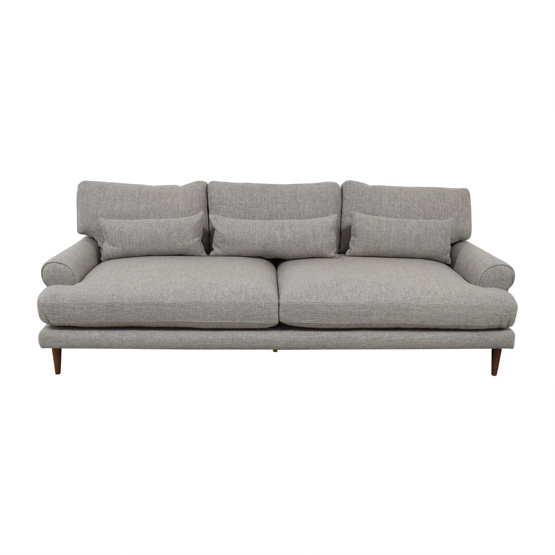"Maxwell 90"" Dove Pebble Weave Sofa sale"