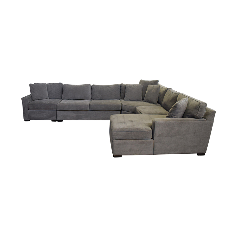 Macy's Macy's Rhyder Grey U-Shaped Chaise  Sectional nj