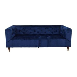 Interior Define Ms. Chesterfield Velvet Oxford Blue Tufted Sofa nyc