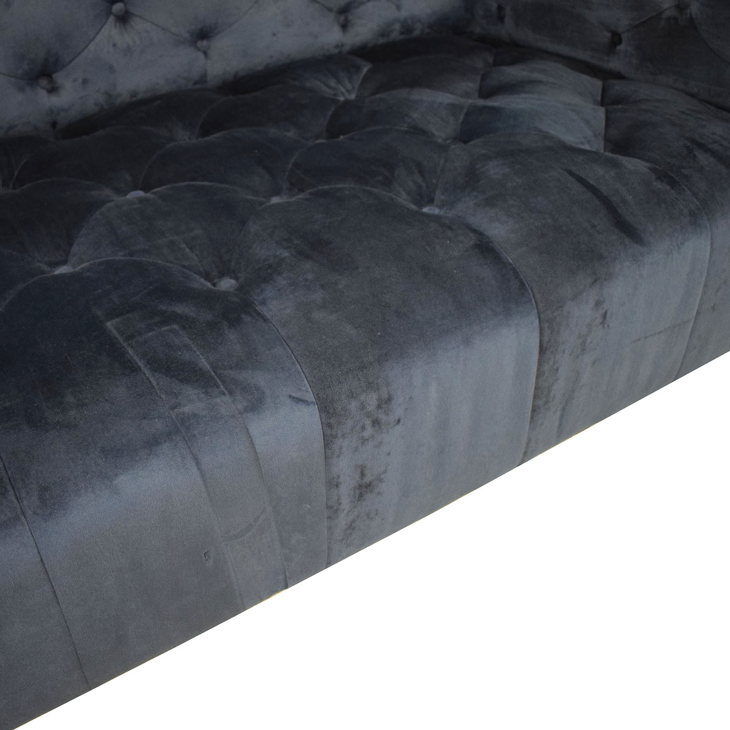Ms. Chesterfield Velvet Oxford Blue Tufted Sofa / Sofas