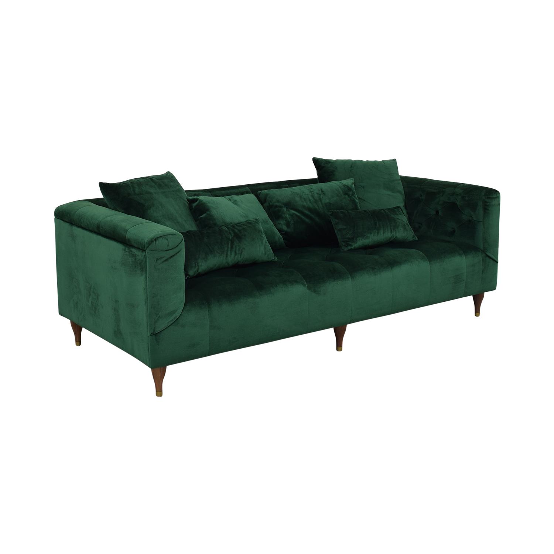 shop Ms. Chesterfield Green Tufted Sofa Interior Define Classic Sofas