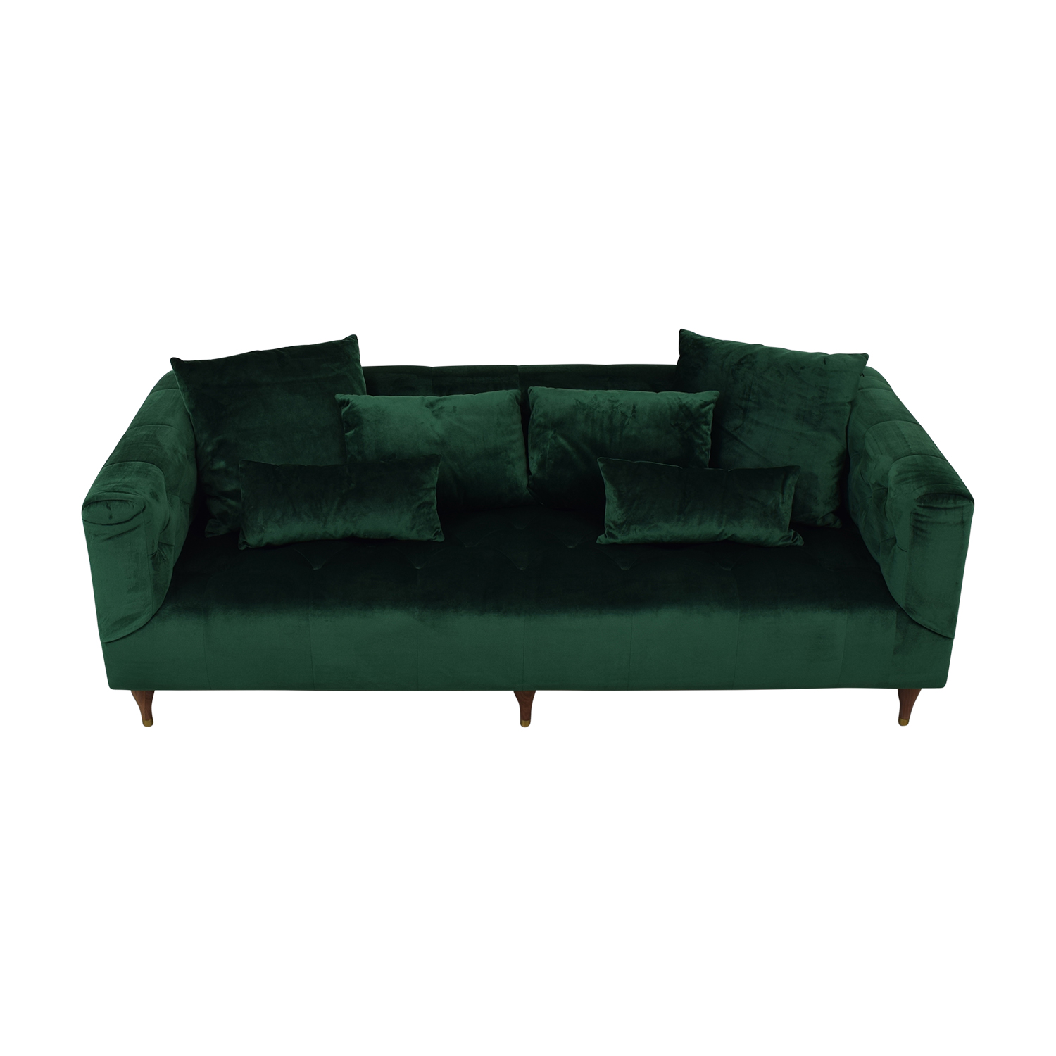 buy Ms. Chesterfield Green Tufted Sofa Interior Define Classic Sofas