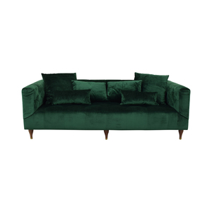 Interior Define Ms. Chesterfield Green Tufted Sofa Sofas