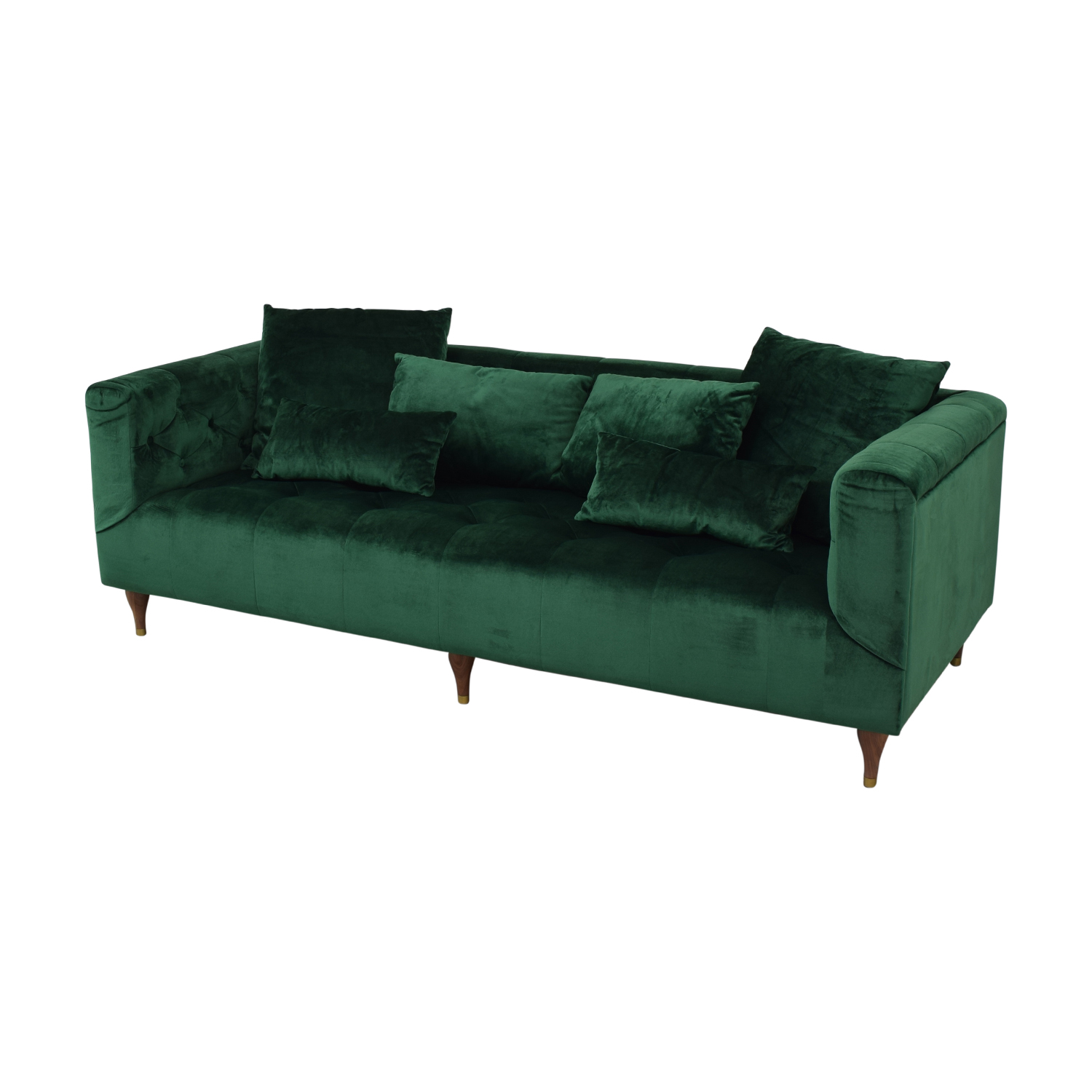 buy Interior Define Ms. Chesterfield Green Tufted Sofa online