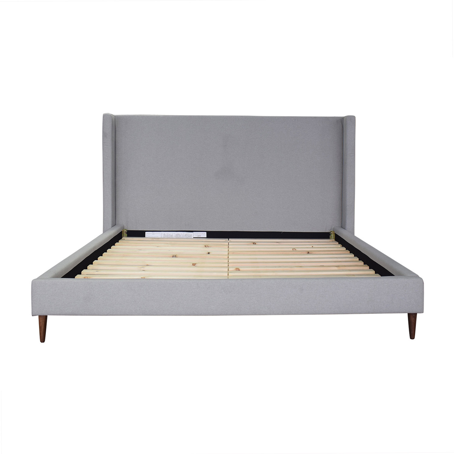Interior Define Oliver Beige Platform King Bed Frame beige