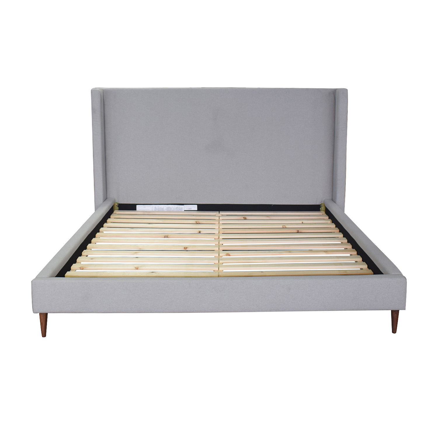 Oliver Beige Platform King Bed Frame Interior Define