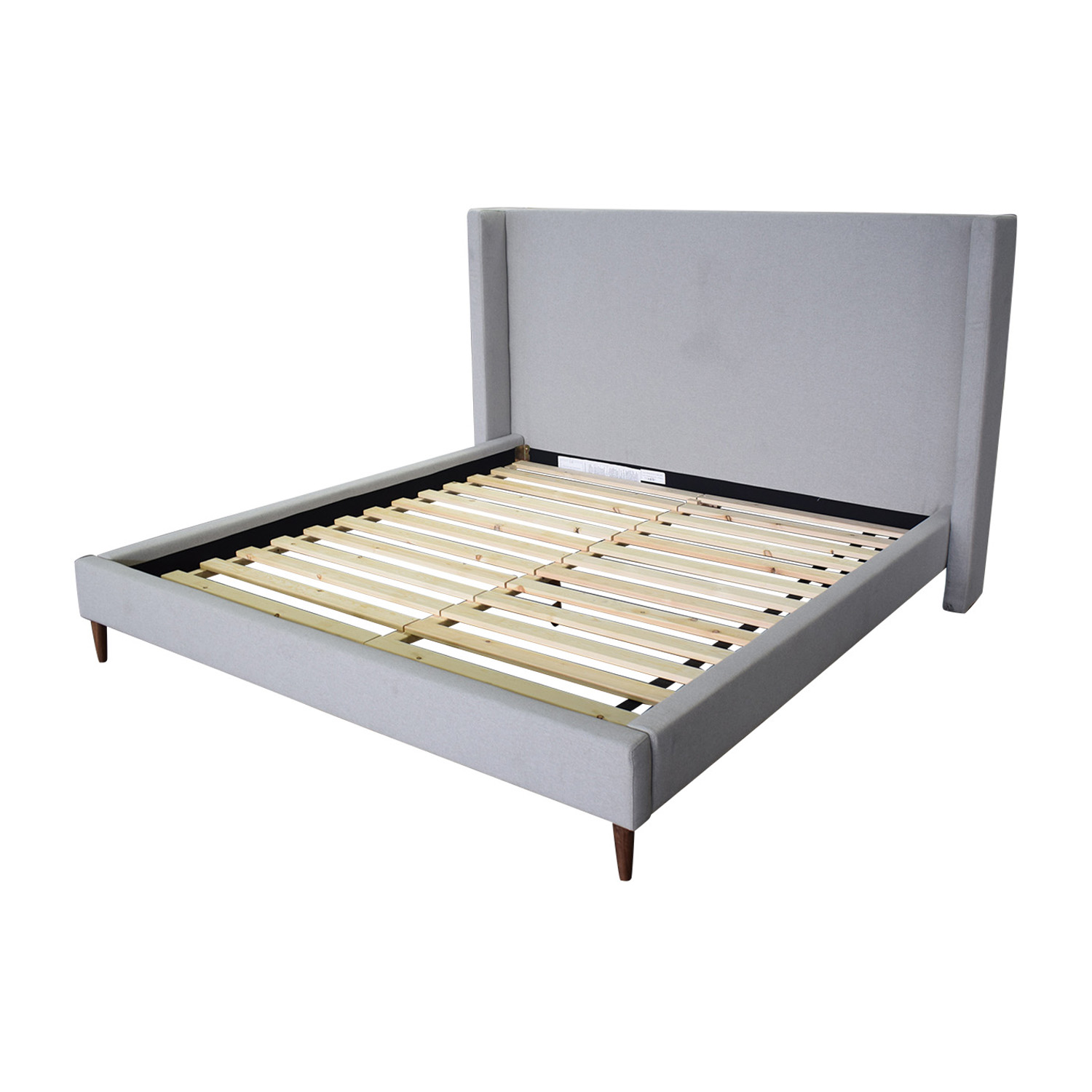 shop Oliver Beige Platform King Bed Frame Interior Define Beds