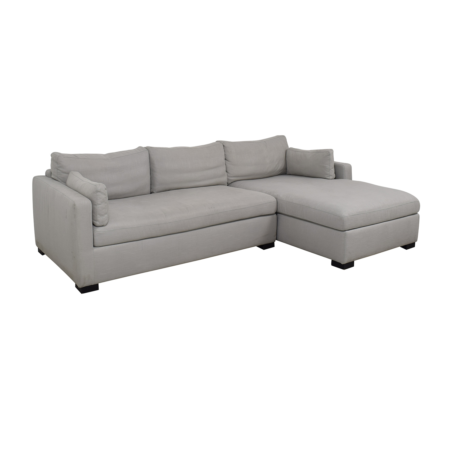 Interior Define Charley Beige Heavy Cloth Right Chaise Sectional Sectionals