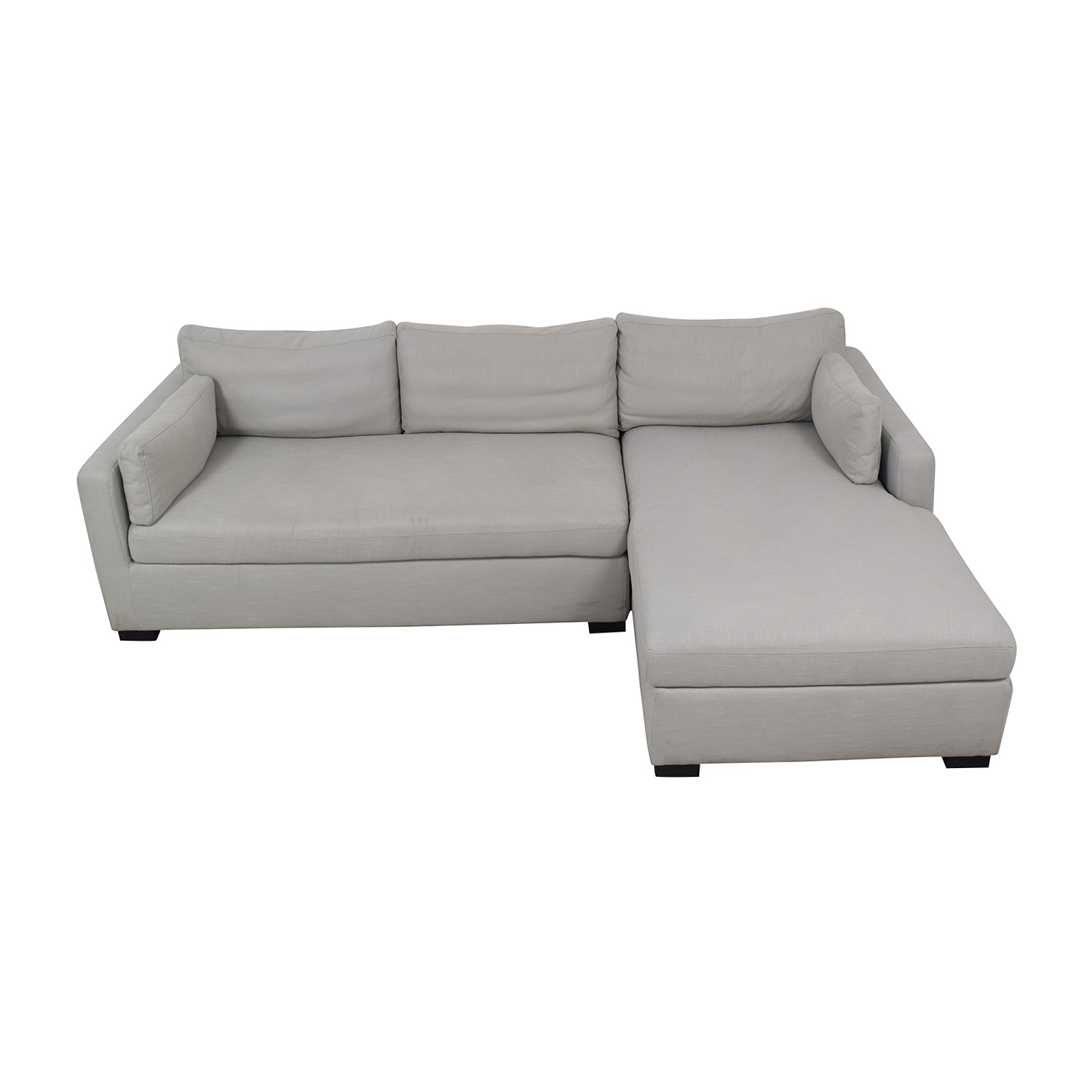 Interior Define Charley Beige Heavy Cloth Right Chaise Sectional beige