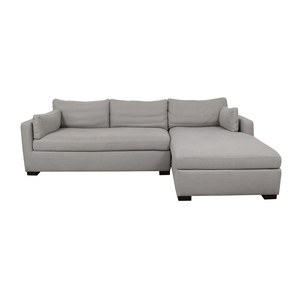 Interior Define Charley Beige Heavy Cloth Right Chaise Sectional Sofas