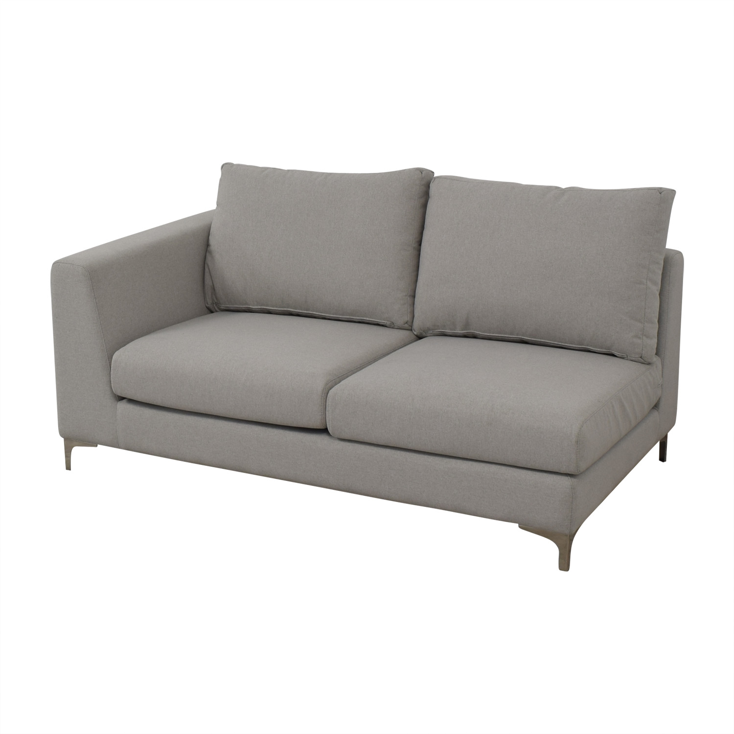 Interior Define Mint Asher Right Extended Chaise Lounge grey