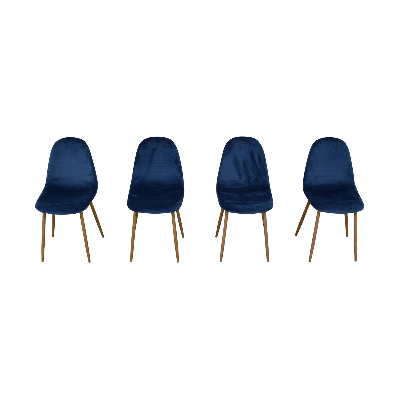 AllModern AllModern Velvet Side Chair Set price