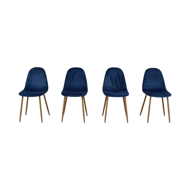 buy AllModern Velvet Side Chair Set AllModern Dining Chairs