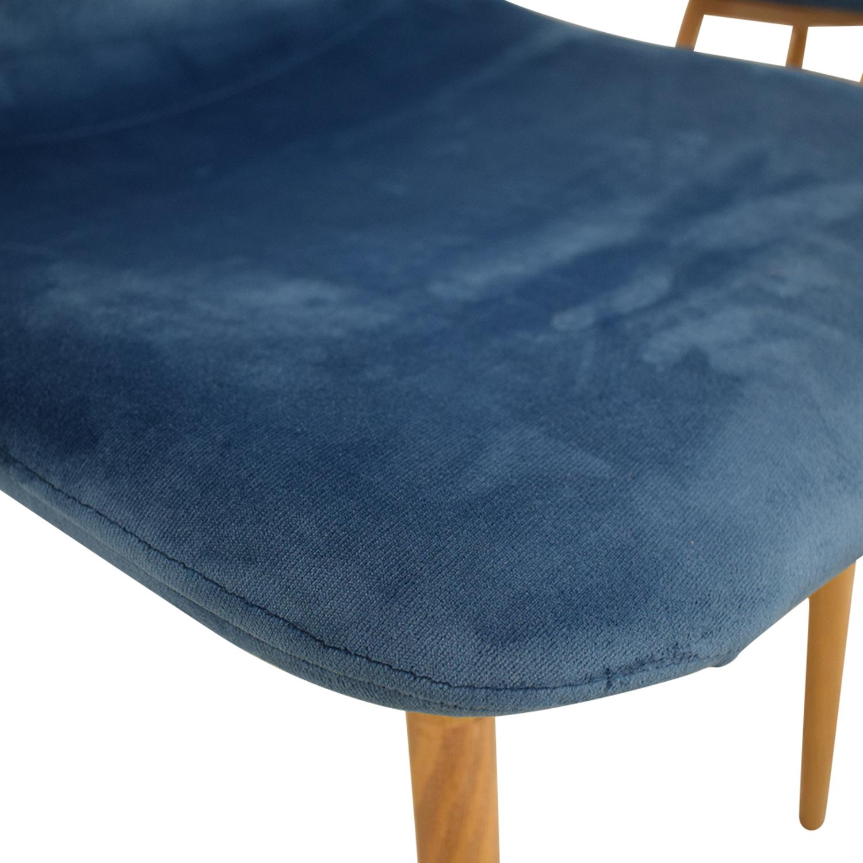 AllModern AllModern Velvet Side Chair Set dimensions