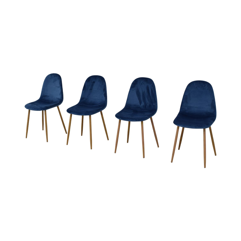 buy AllModern Velvet Side Chair Set AllModern Chairs