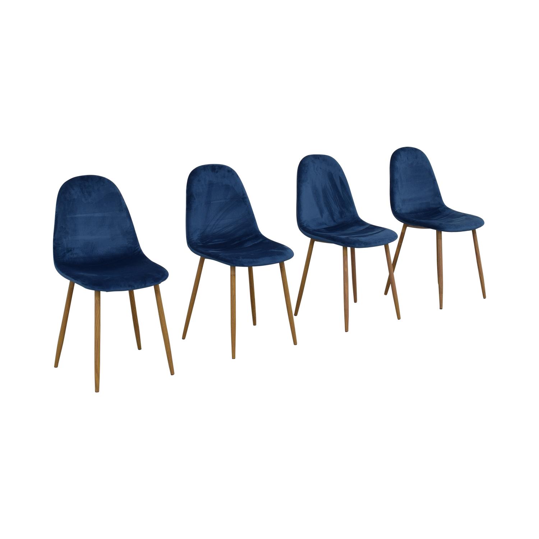 AllModern Velvet Side Chair Set AllModern