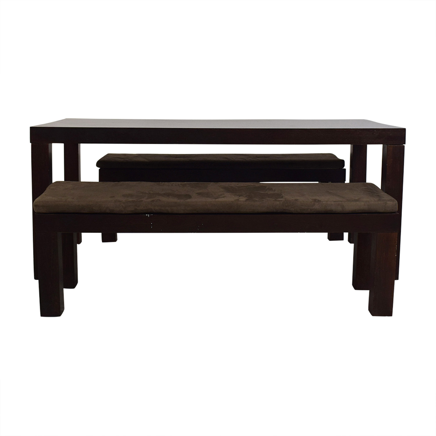 CB2 Indie Dining Table with Benches / Dining Sets