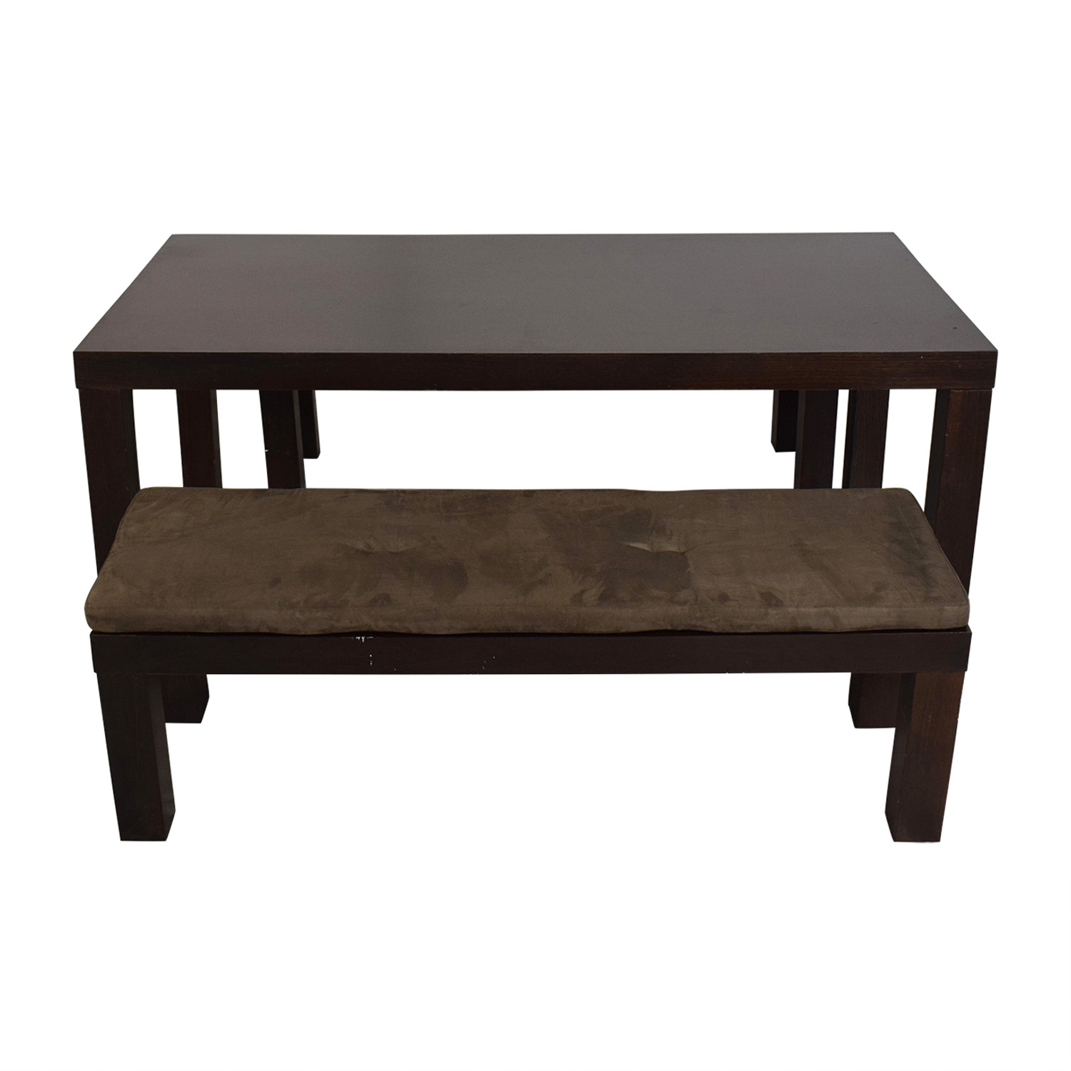 CB2 CB2 Indie Dining Table with Benches dimensions