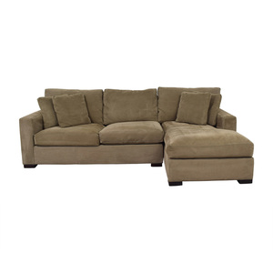 buy Crate & Barrel Crate & Barrel Axis Green Chaise Sectional online