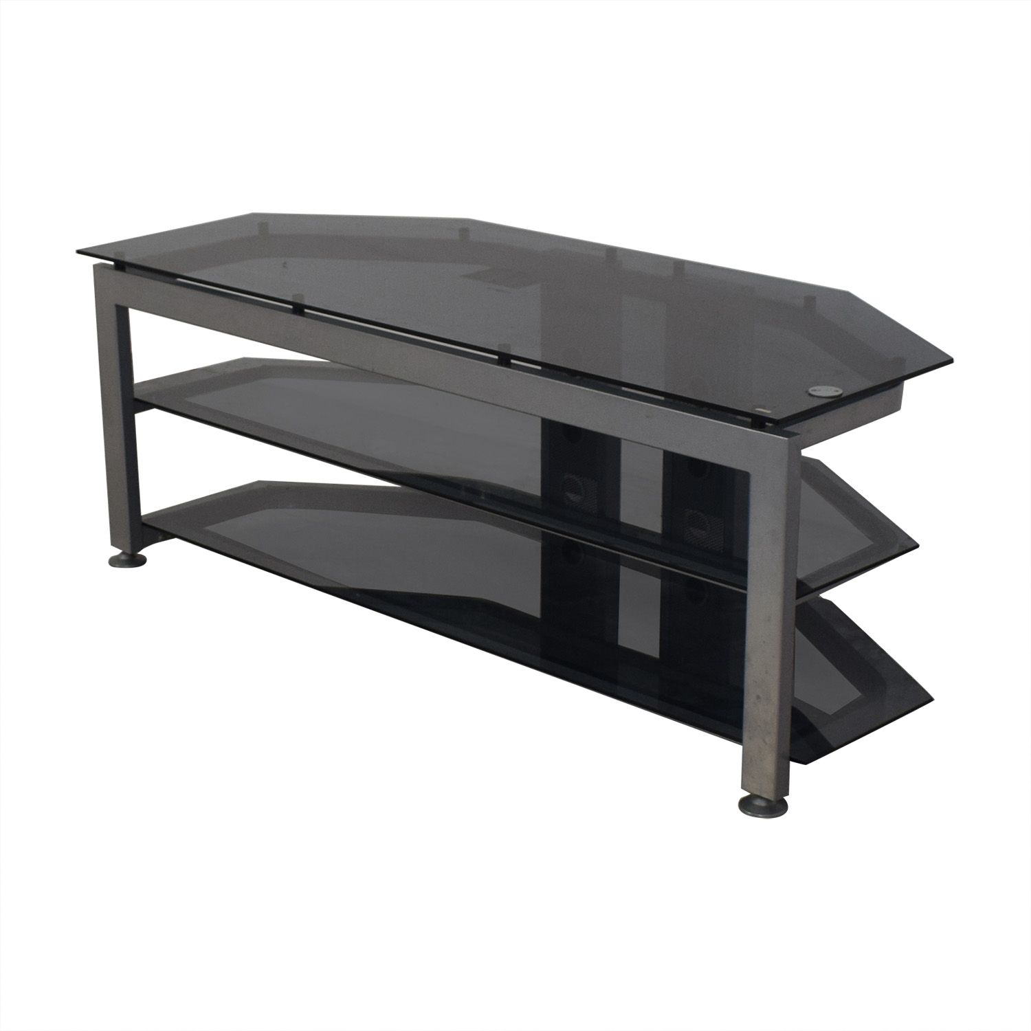 shop Bush Furniture Bush Furniture Glass and Grey TV Stand online