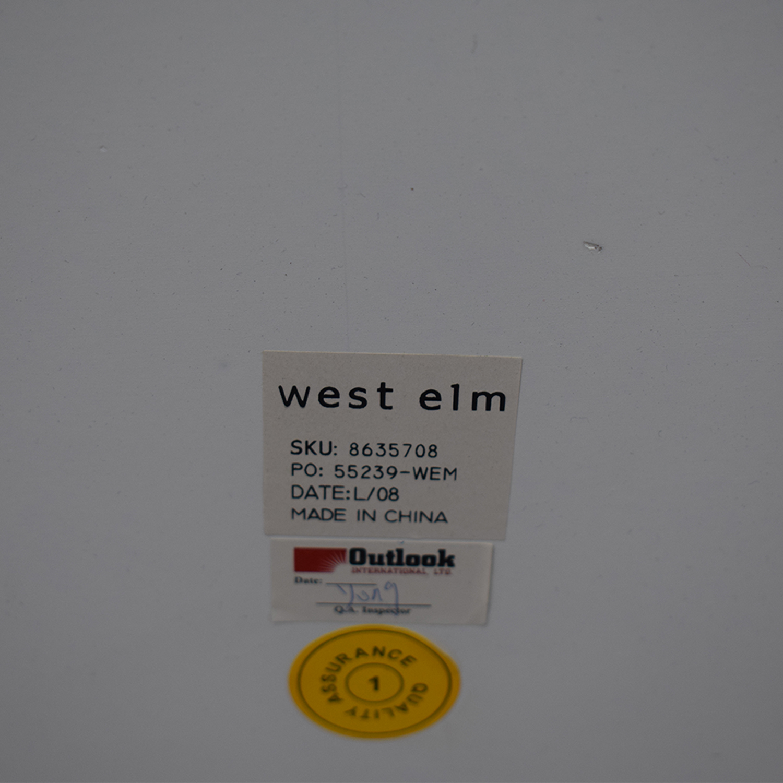 West Elm West Elm Parsons Low White Bookcases white