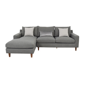 Interior Define Sloan Light Gray Mushroom Cross Weave Left Arm Chaise Sectional used