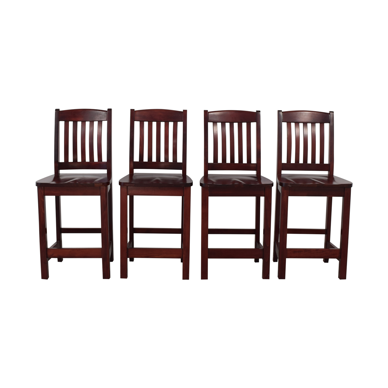 Mahogany-Finish Counter-Height Dining Chairs nyc