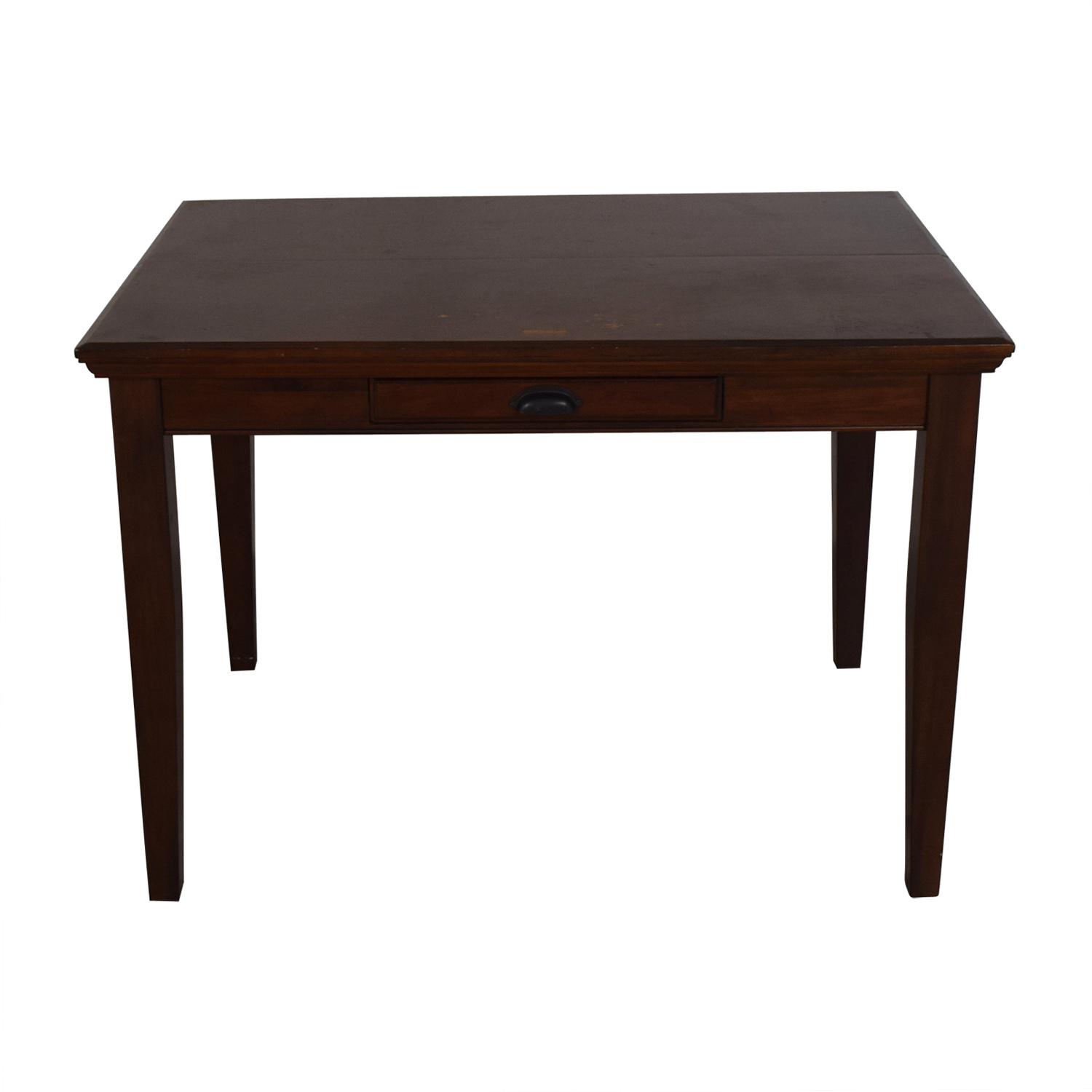 Mahogany Extendable Single-Drawer Counter Height Dining Table discount