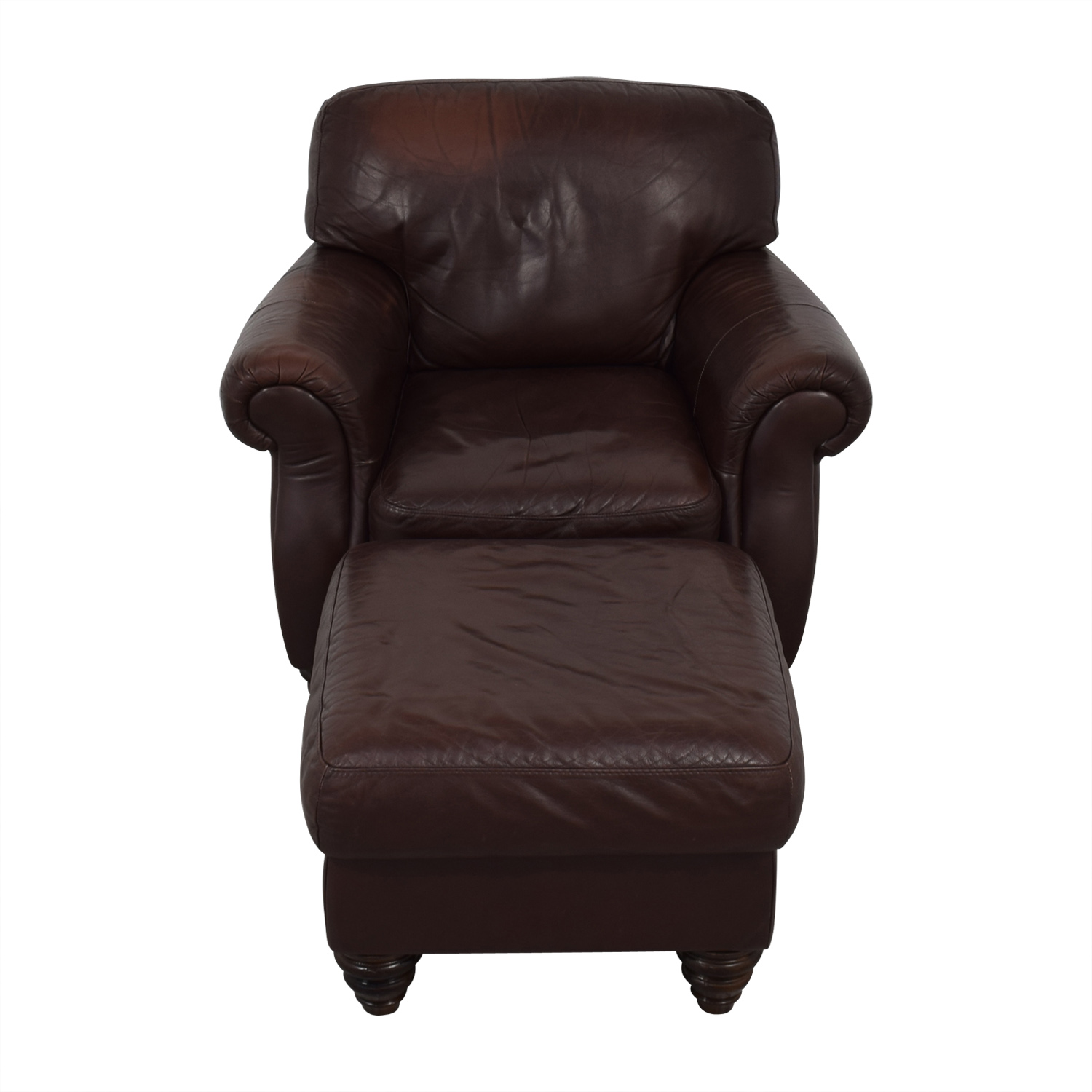Fortunoff Fortunoff Brown Accent Chair and Ottoman nj