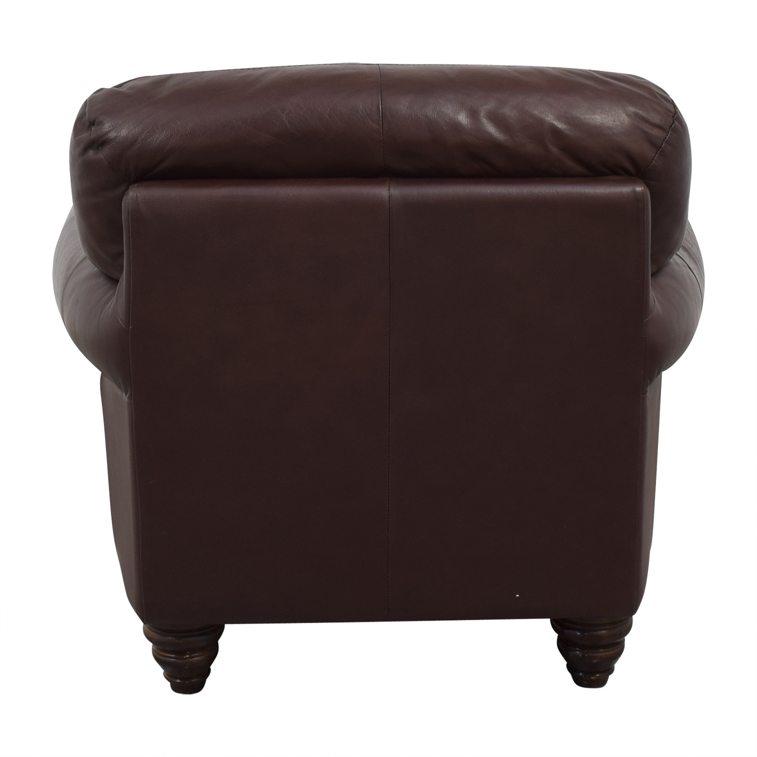 Fortunoff Fortunoff Brown Accent Chair and Ottoman
