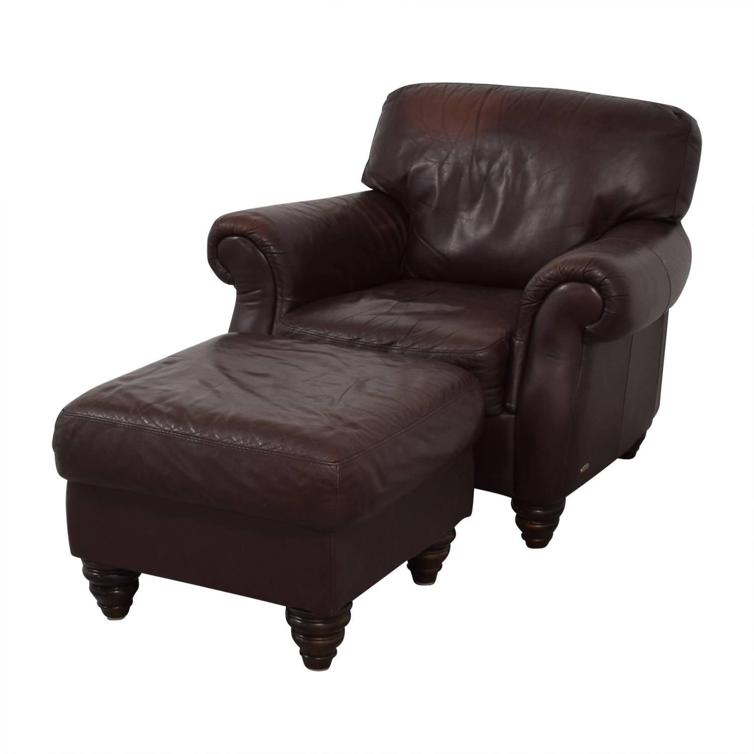 buy Fortunoff Fortunoff Brown Accent Chair and Ottoman online