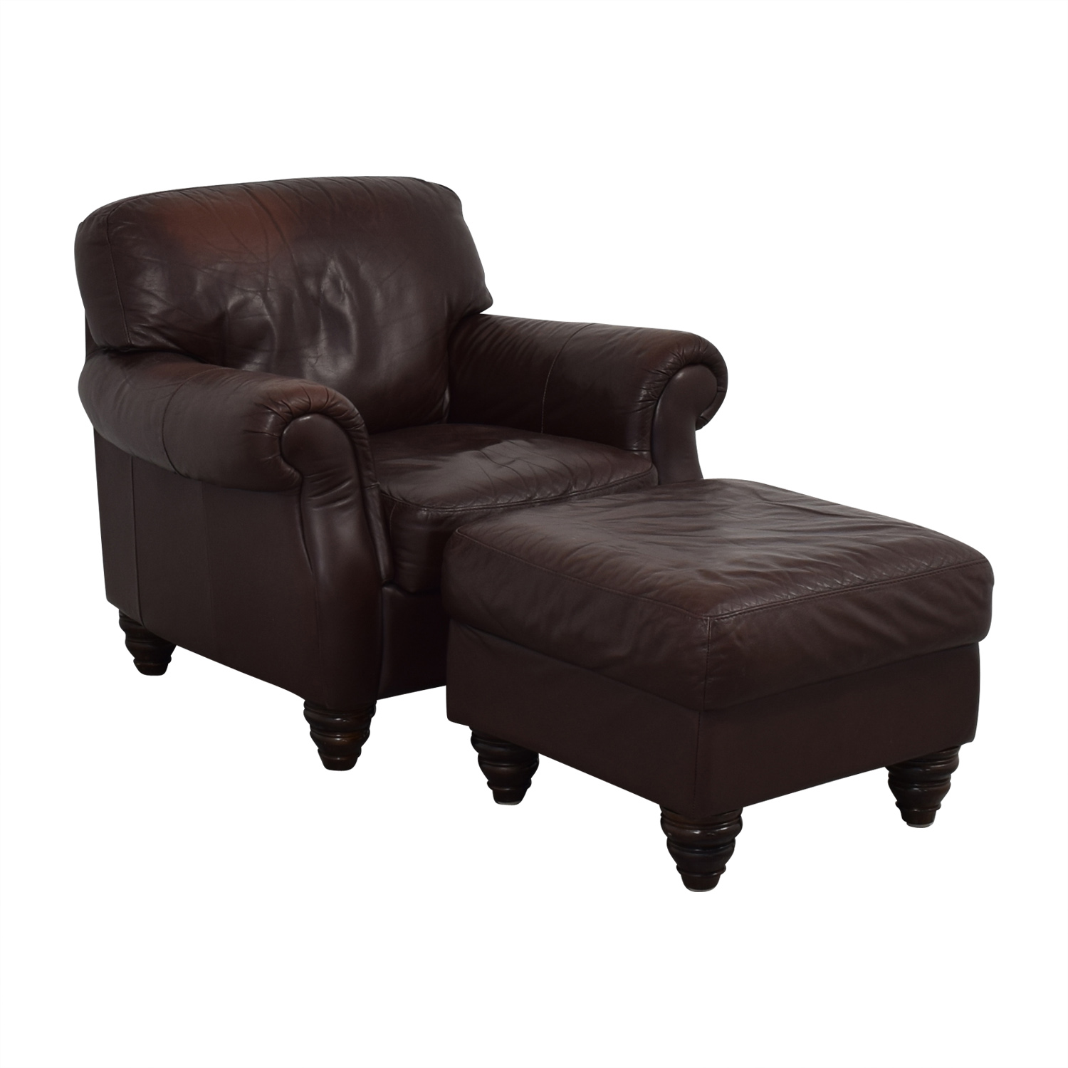 buy Fortunoff Brown Accent Chair and Ottoman Fortunoff Accent Chairs