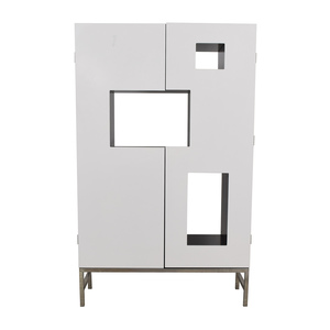 buy Armoire Wine Closet with Open Shelves