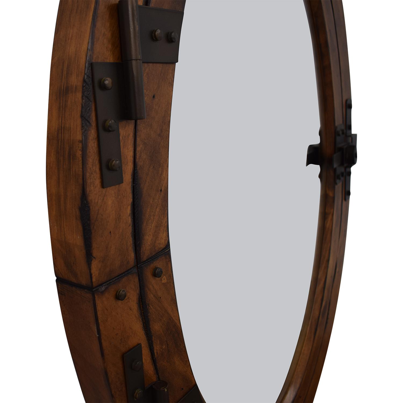 buy Pottery Barn Wooden Framed Oval Porthole Mirror Pottery Barn Decor