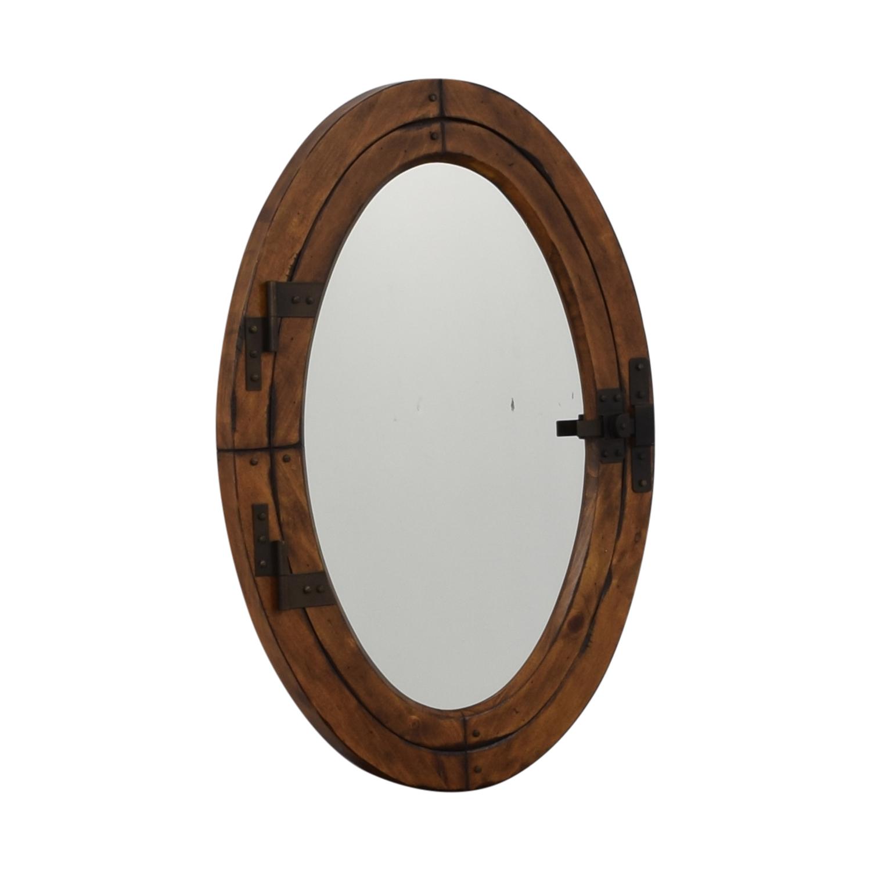Pottery Barn Pottery Barn Wooden Framed Oval Porthole Mirror wood frame
