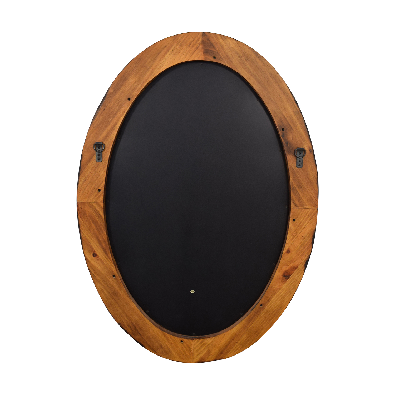 shop Pottery Barn Pottery Barn Wooden Framed Oval Porthole Mirror online
