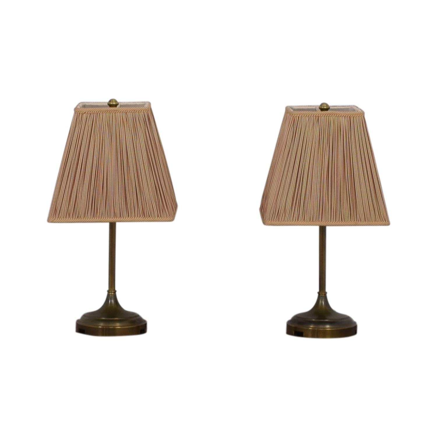 Pottery Barn Pottery Barn Striped Shade Brass Lamps discount
