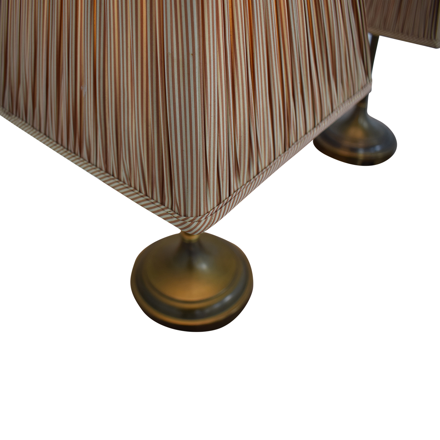 Pottery Barn Pottery Barn Striped Shade Brass Lamps for sale