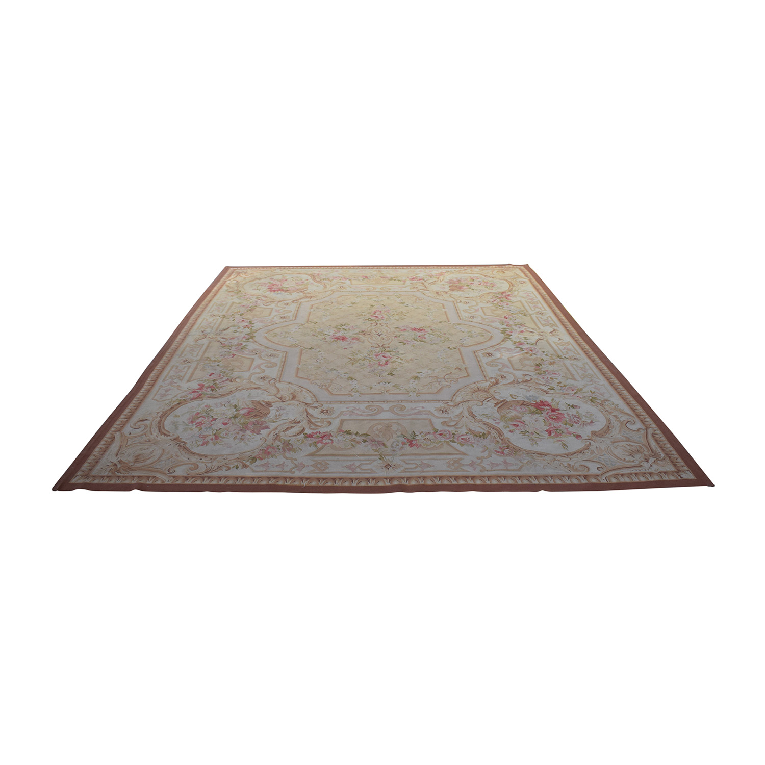 Aubusson Aubusson Pink Floral Rug discount