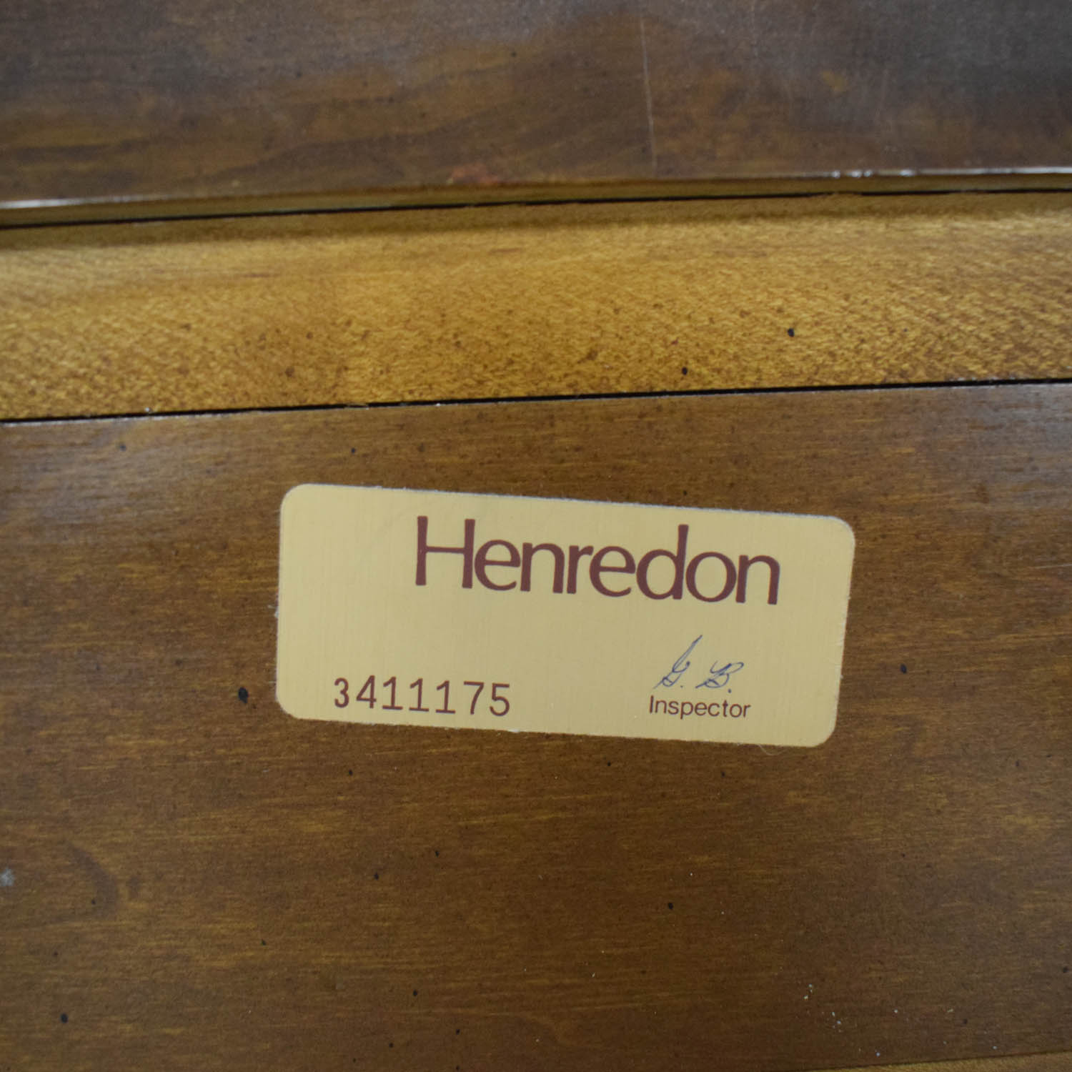 Henredon Furniture Henredon Furniture Sleigh King Bed Frame brown