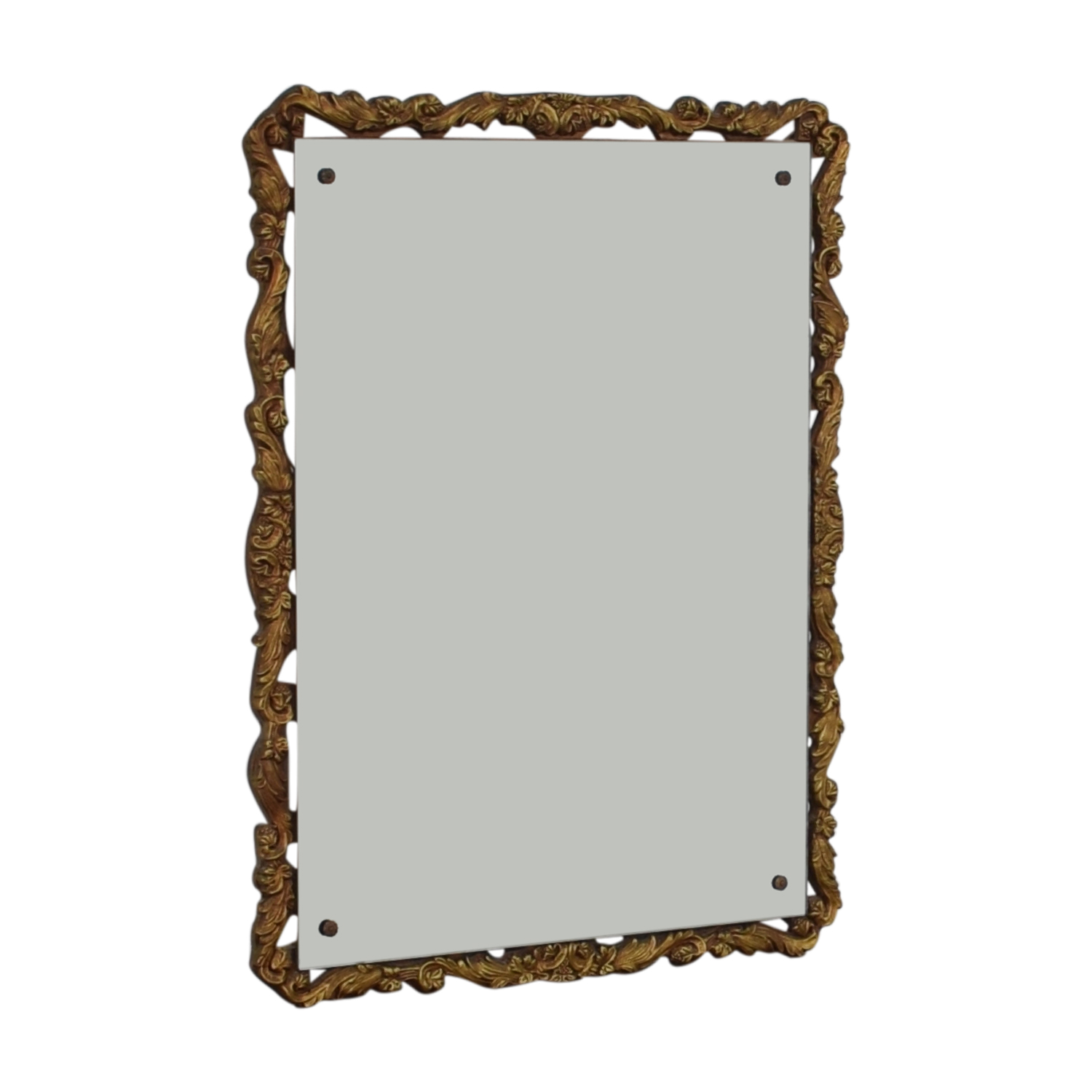 Distressed Gold Framed Wall Mirror gold