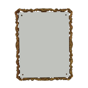 Distressed Gold Framed Wall Mirror on sale
