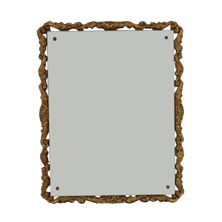Distressed Gold Framed Wall Mirror for sale