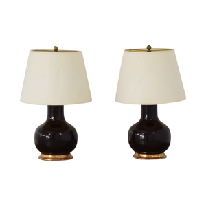 Mecox Gardens Mecox Gardens Christopher Spitzmiller Brown Lamps used