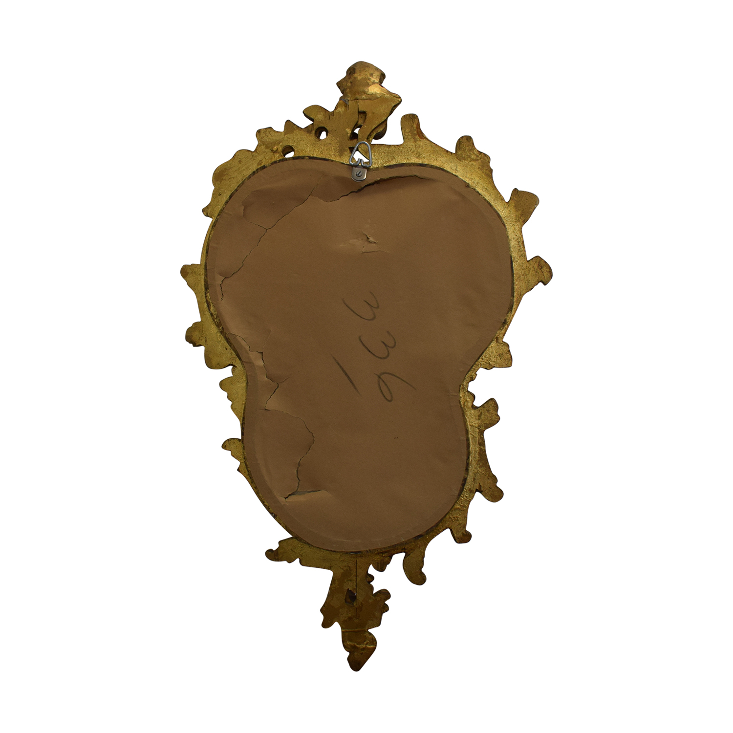 shop Distressed Gold Framed Wall Mirror  Mirrors