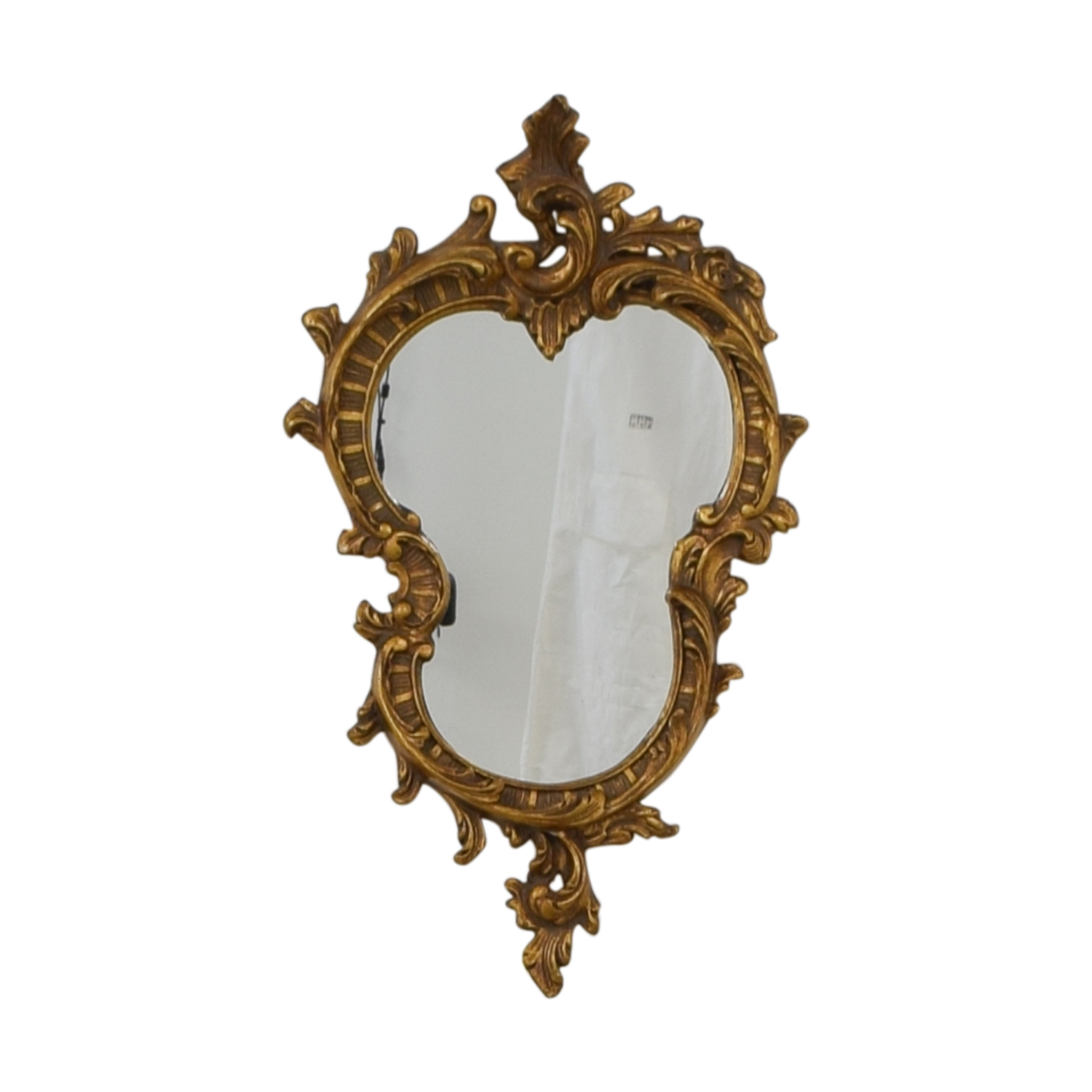 buy Distressed Gold Framed Wall Mirror