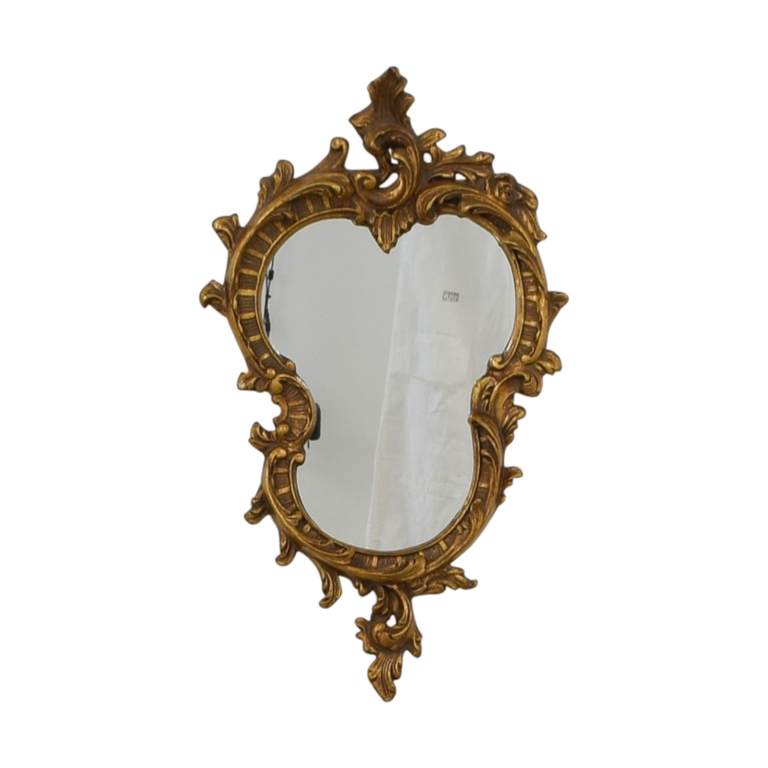 Distressed Gold Framed Wall Mirror nyc