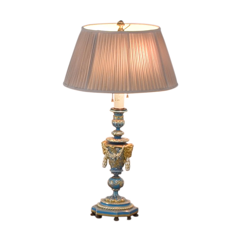 Sevres Bleu Celeste Porcelain Lamp nyc